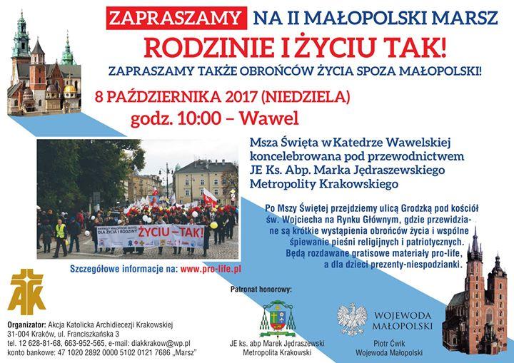 """Marsz """"Rodzinie I Życiu -Tak!"""""""