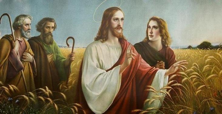 Chrystus Z Apostolami Wsrod Zboz 6267371