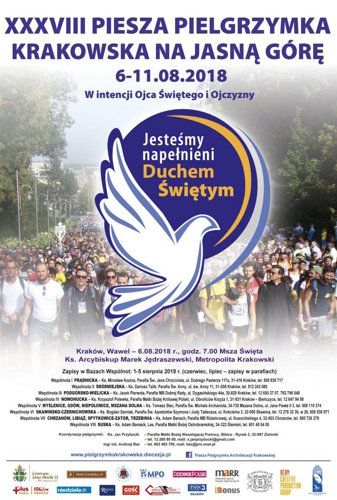 38 Piesza Pielgrzymka Krakowska Na Jasną Górę 6-11 Sierpnia 2018